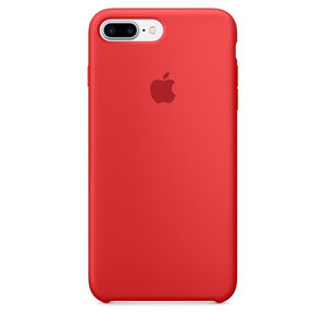 Apple Silicone Case Red iPhone 7 Plus