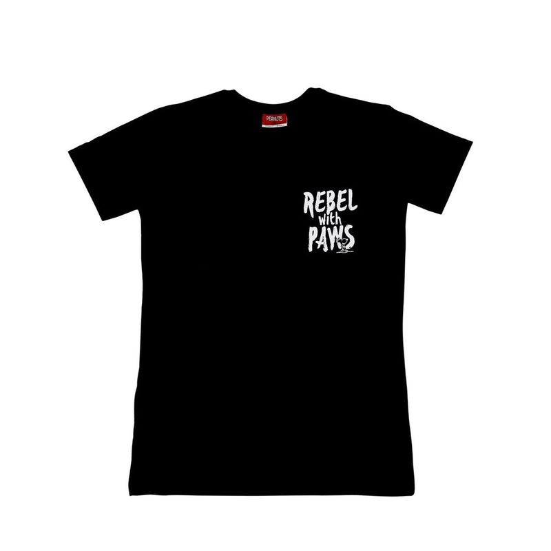 Exhale Rebel With Paws Unisex T-Shirt Black