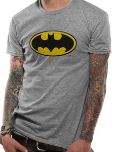 CID Batman Logo Sports Men's T-Shirts Grey