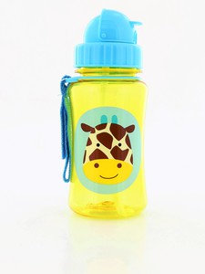 Skip Hop Zoo Straw Kids Water Bottle Giraffe 350ml