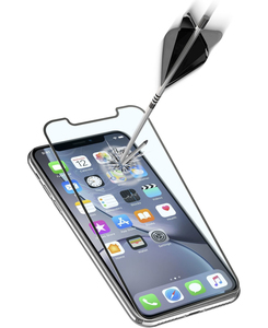 CellularLine Anti-Shock Tempered Glass Black for iPhone XR