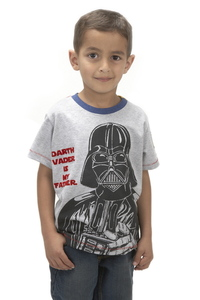 Star Wars Darth Vader Father Grey Marl Boys T-Shirt