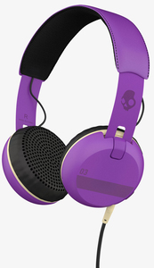 Skullcandy Grind Ill Famed/Purple/Black W/Mic Headphones