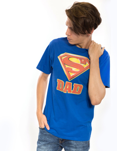 Superman Super Dad Royal Men's T-Shirt