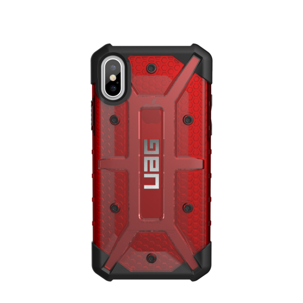 pretty nice 364eb a1cb4 UAG Plasma Case Magma Red Transparent for iPhone X