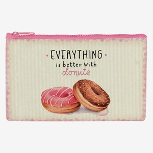 LEGAMI ZIPPER POUCH FUNKY COLLECTION PENCIL CASE DONUTS