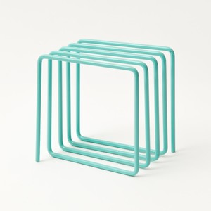 Block Magazine Rack Blue