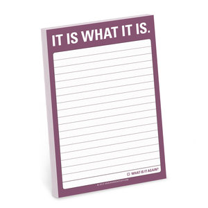 Knock Knock Great Big Stickies It Is What It Is Notebook