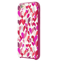 Kate Spade New York Hybrid Hardshell Case Confetti Hearts Multi/Crystal Stones iPhone 6/6S