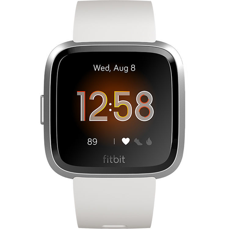 Fitbit Versa Lite Smart Watch White/Silver Aluminum