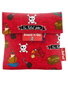 Roll'Eat Snack'n'Go Kids Pirates Red Lunch Kit