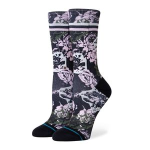 Stance La Vie En Rose Crew Ladies Socks Black