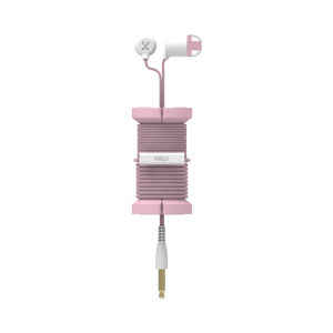 Philo Spool Metal Rose Gold Earphones with Mic & Cable Organizer