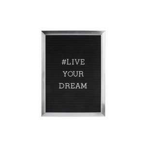 Present Time Message Board Silver Frame & Chrome Letters ?Dream