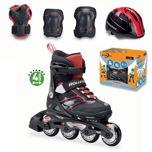 Rollerblade Cube Boys Inline Skates Black/Red