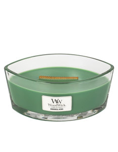 Woodwick Heart Wide Flame Windowsill Herbs Green Large Candle