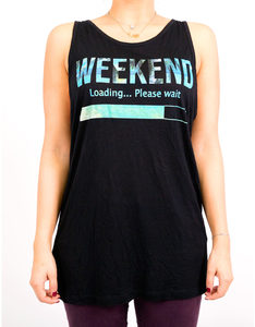 Foy Paris Weekend Black Women's Tank Top