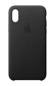 Apple Leather Case Black for iPhone X