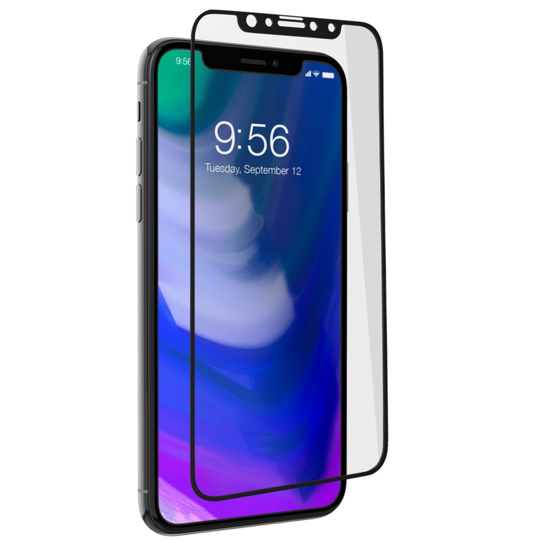 brand new 96427 cc580 Zagg Invisible Shield Glass Plus Contour Black Screen Protector for iPhone X