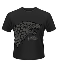 Plastichead Game Of Thrones Direwolf Black T-Shirt