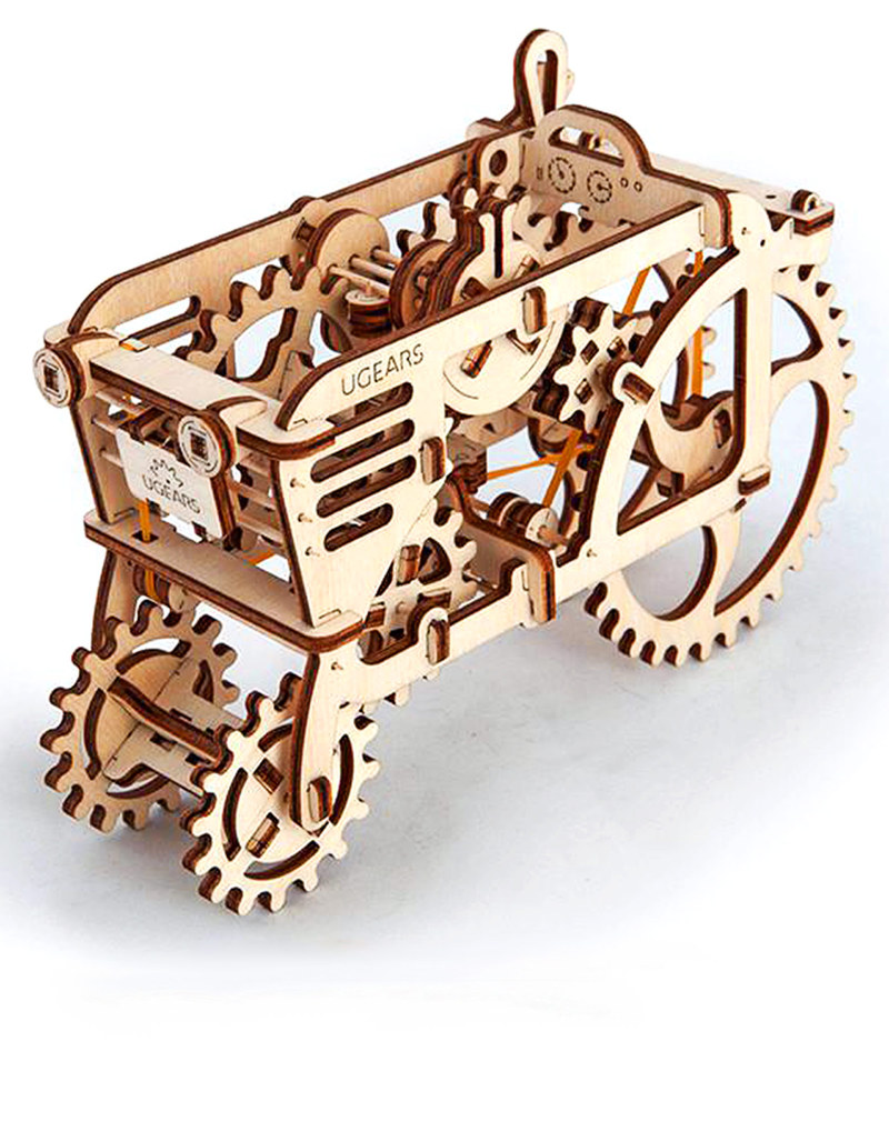 U-Gears Tractor Wooden Mechanical Model