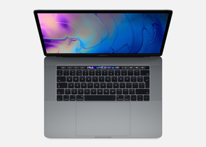 MacBook Pro 15-inch with Touch Bar Space Grey 2.6GHz 6-Core 9th-Generation Intel-Core i7/256GB Arabic/English