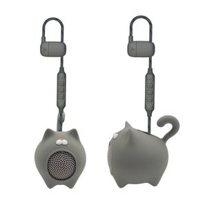 Muvit Cat Life Anibal Grey Mini Bluetooth Speaker