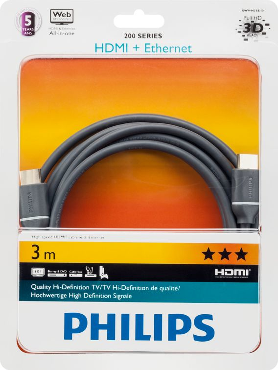 Philips 200 Series Gold Plated Hdmi 3M