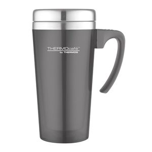 Thermos Thermocafe By Thermos Stainless Steel With Plastic Cover Drinking Mug 400 ml Grey