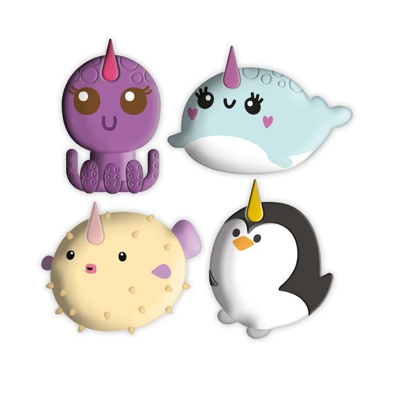 Happy Zoo Under the Sea Erasers [Set of 4]