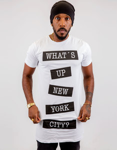 Saint Noir What's Up NY White Long Shirt