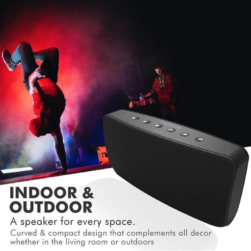 Promate Concerto Black 40W Bluetooth Speaker with 5200mAh Power Bank