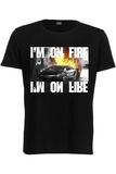 Foy Paris I'M On Fire Basic Ss Black Men's  T-Shirt