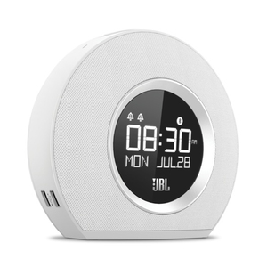 JBL Horizon White Bluetooth Clock & Radio Speaker