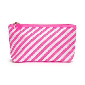 Ban.do Looking Good Makeup Bag Ticket Stripe Neon