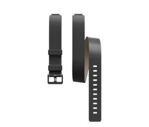 Fitbit Inspire Double Leather Wrap Band Black One Size