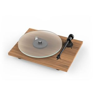 Pro-Ject T1 BT New Generation Audiophile Entry Level Turntable With Phono Preamp And Bluetooth Streaming Walnut