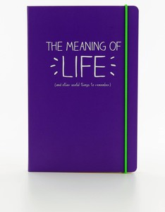 Happy Jackson Meaning Of Life A5 Notebook Purple