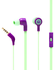Wicked Audio Jekyll Purple Pine With Mic Earbuds