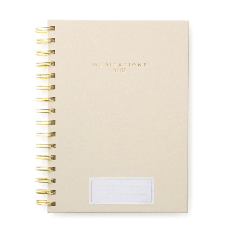 Designworks Ink Twin Wire Journal Meditations Taupe/Gold
