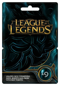 League Of Legends 9Gbp Card