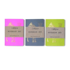 Little Majlis Camel A6 Notebook Gold Mix Set Of 3