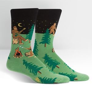 Sock It To Me Men's Crew Sasquatch Camp Out Socks