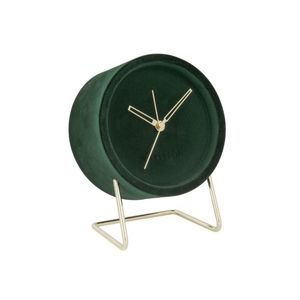 Karlsson Alarm Clock Lush Velvet Dark Green
