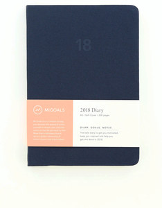 MiGoals Minimal Diary Soft Cover A5 Navy 2018 Planner