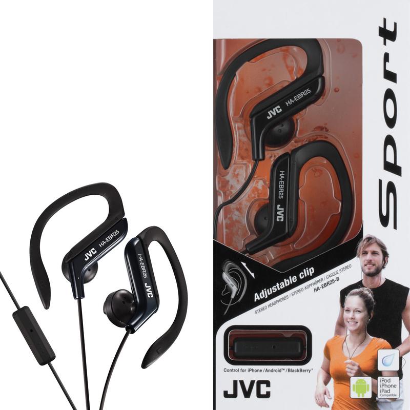 c8820b6afda JVC EBR25 Black Sports Clip In-Ear Earphones   In-Ear Headphones ...
