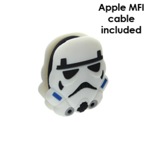 Star Wars Stormtrooper Cable Management With MFI Lightning Cable