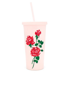 Ban.do Sip Sip Tumbler with Straw Will You Accept This Rose