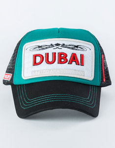 B180 Dubai Cordanite1 Black/Green Unisex Cap