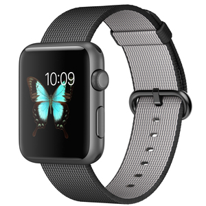 Apple Watch 42mm Space Grey Aluminium Case With Black Woven Nylon